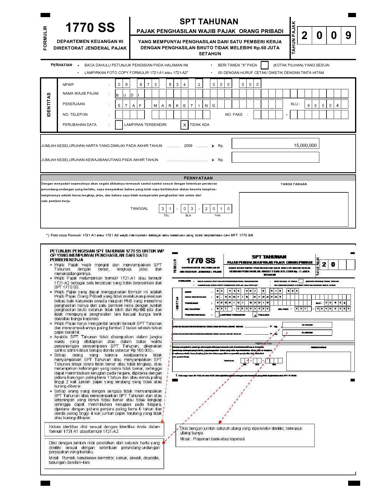 Download form spt tahunan orang pribadi 2011